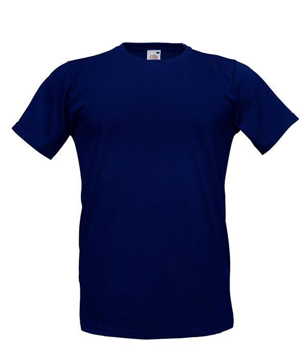 Мужская приталенная футболка Fitted 52, Глубокий Темно-Синий