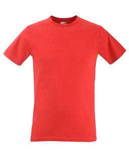 Мужская футболка приталенная 2XL, 40 Красный
