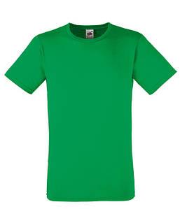 Мужская футболка приталенная 2XL, 47 Ярко-Зеленый