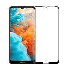 Защитное стекло Full Glue для Huawei Y6 2019 (Черное)