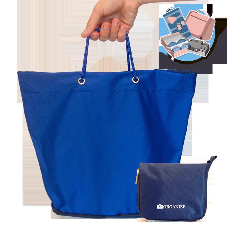 РАСПРОДАЖА Складная сумка для покупок/Shopper bag ORGANIZE (синий)