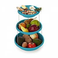 Складная подставка миска для чипсов фруктов Twistfold Party Bow Blue, Складна підставка миска для чіпсів фруктів Twistfold Party Bow Blue