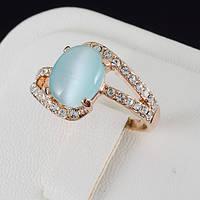 Шикарное кольцо с кристаллами Swarovski, покрытое золотом 0633