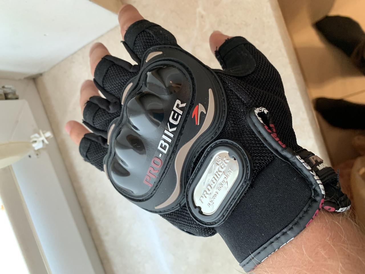 Безпалые короткие Летние текстильные мотоперчатки без пальцев Probiker