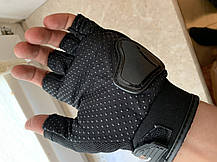 Безпалые короткие Летние текстильные мотоперчатки без пальцев Probiker, фото 2