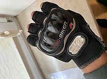 Безпалые короткие Летние текстильные мотоперчатки без пальцев Probiker, фото 3