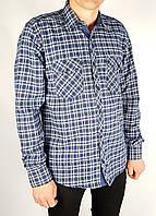 Рубашки Бренд varetti Мужской Темно-синяя клетка 100% коттон арт.9181 L(р)