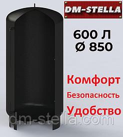Буферная емкость (теплоаккумулятор) 600 литров, Ø 850 мм, сталь 3 мм