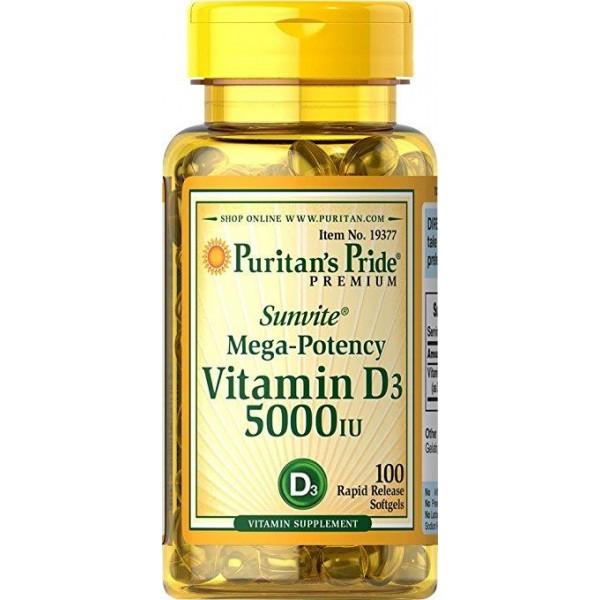 Vitamin D3 5000 IU100 Softgels