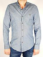 Рубашки Бренд trico Мужской Серо-голубой 95% коттон 5% эластан арт.9215 M(р)