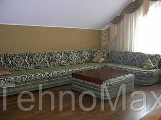 Угловой диван Лексус с пуфом-столиком (огромный и роскошный)