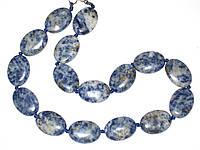 Красивое ожерелье из лазурита