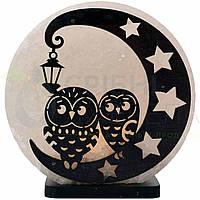 Соляная лампа Совы на Луне, 3-4 кг