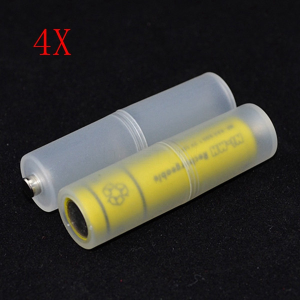 4PCS AAA To AA Battery Adapter Converter Case Holder - 1TopShop