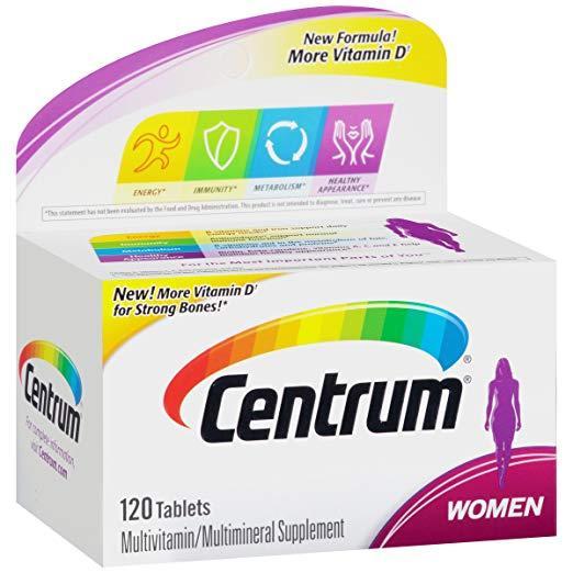 Мультивитаминный комплекс для женщин Centrum Women 120 таблеток