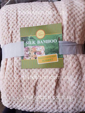 Бамбуковый плед покрывало Bamboo 180х200. Двухспальный., фото 2