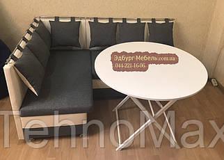 Круглый складной стол белого цвета 100х78 см