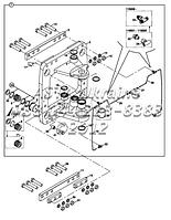 Элементы поворота задней стрелы на Hidromek 102B