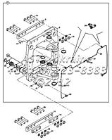Элементы поворота задней стрелы B4-3-3-2 на Hidromek 102B