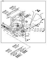 Элементы поворота задней стрелы B4-3-3-2/01 на Hidromek 102B