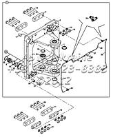 Элементы поворота задней стрелы B4-3-3-2/02 на Hidromek 102B