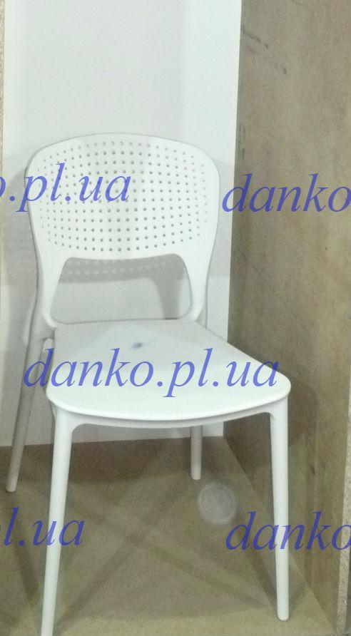 Стілець пластиковий для кафе Mark (Марк) білий 07 від Onder Mebli