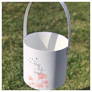 "Корзинка для цветов ""Keep life simple"" 16*15 см"