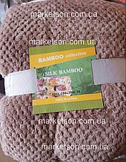 Бамбуковый плед покрывало Bamboo 180х200. Двухспальный., фото 3