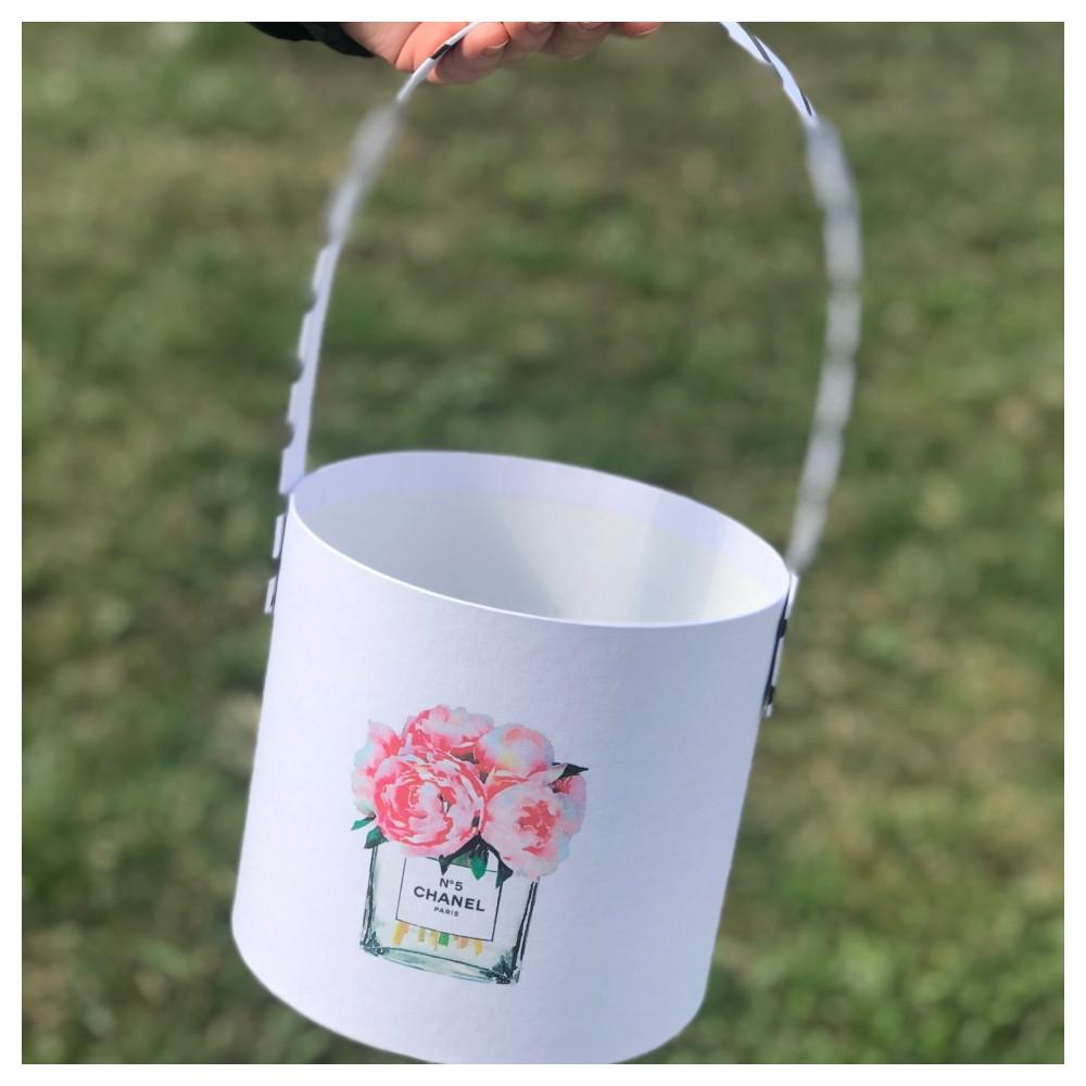 """Корзинка для цветов """"Шанель"""" 16*15 см"""