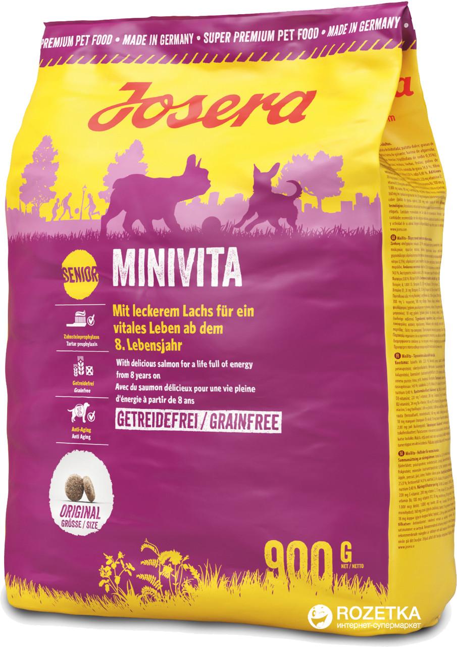 Josera MiniVita Беззерновой корм для пожилых собак мелких пород, 900 гр
