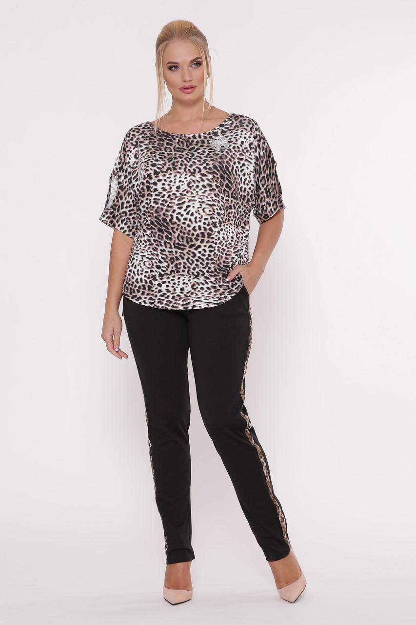 Молодежный брючный костюм Леопард (52-58)