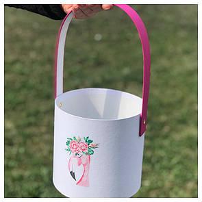 """Корзинка для цветов """"Фламинго"""" 16*15 см"""