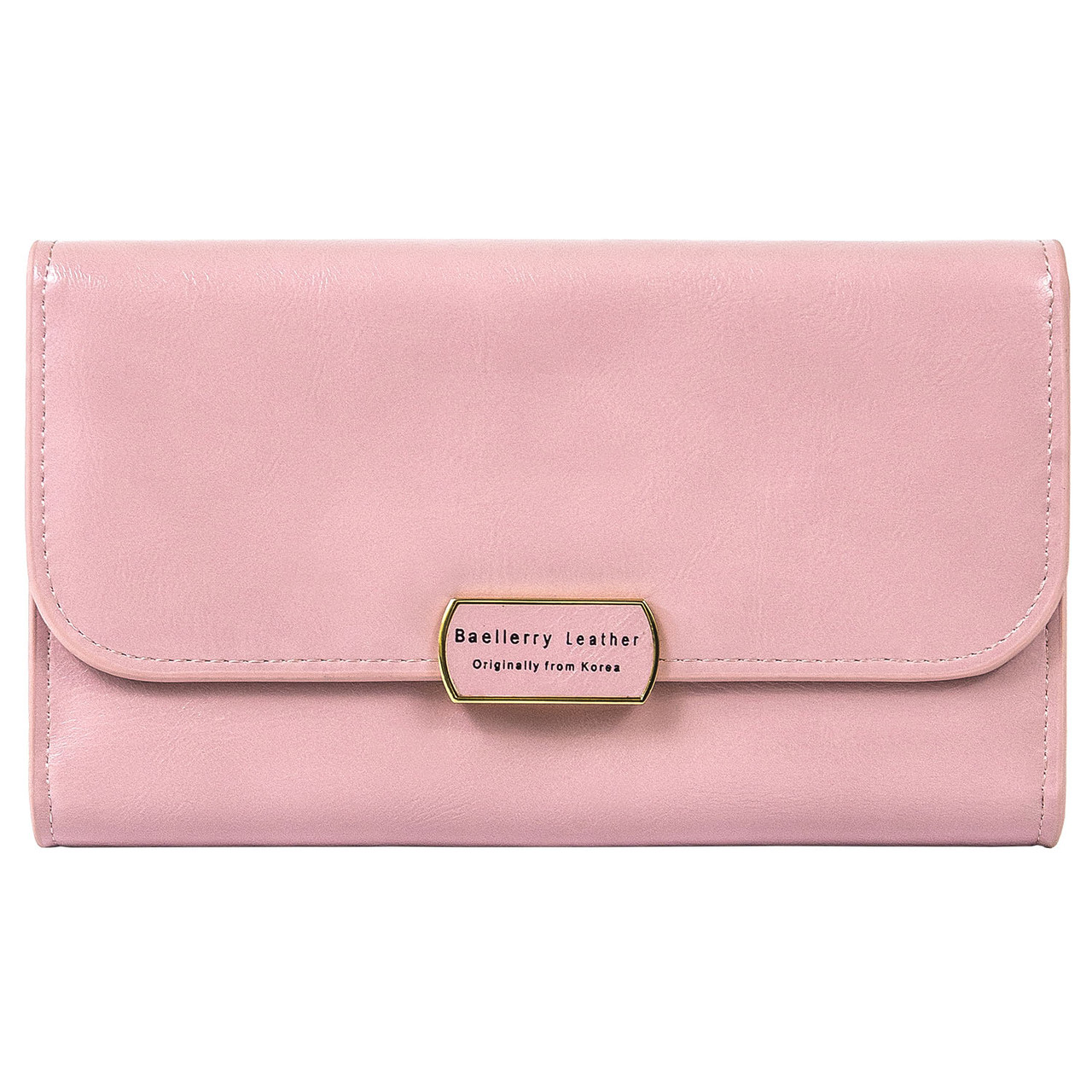 Женский кошелек Baellerry Leather 5512 с ремешком розовый