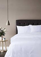 Постельное белье Lotus Отель - Сатин Классик белый полуторный (Турция)