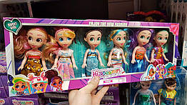 "Куклы Стильные подружки ""Hairdorables"" набор 6 штук Хэрдораблс №QQ26 (Аналог)"