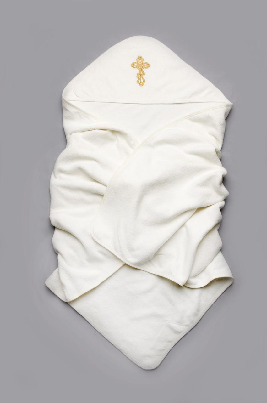 Крыжма махровая для крещения (молочная)