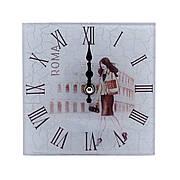 """Часы настольные """"Девушка. Рим"""", квадратные, стекло"""