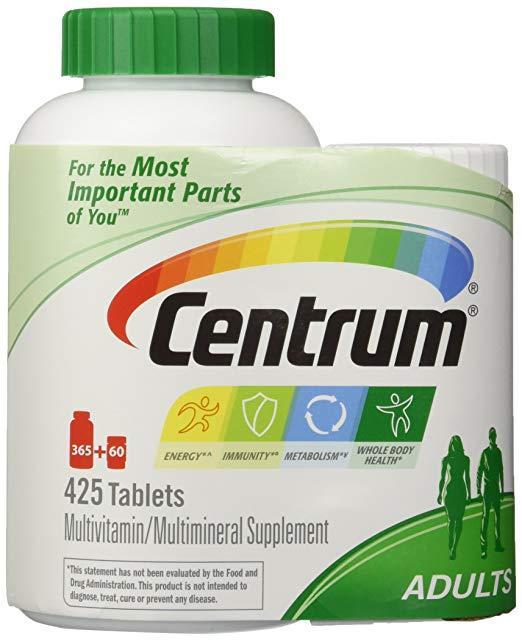 Мультивитамины Centrum Adults, Family Size 425 (365+60) таблеток