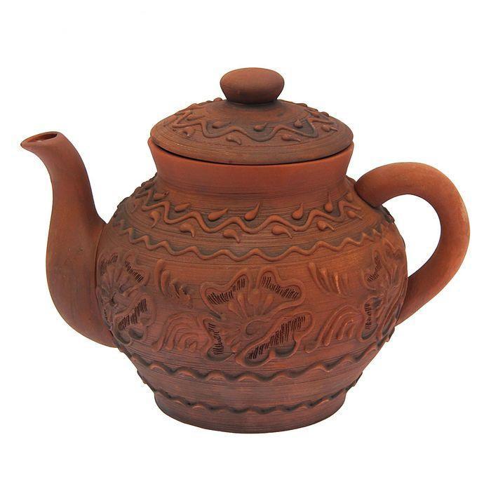 """Чайник глиняный """"Лепка"""" 2 л"""