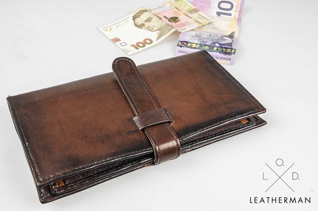 Кожаные кошельки и портмоне мужские