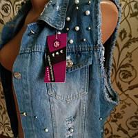 Жилетка женская джинсовая  3504 (1)