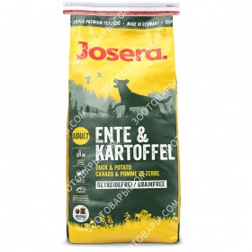 Josera Dog Ente & Kartoffel Корм для собак всех пород, 15 кг