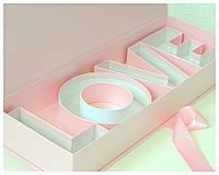Коробка футляр с буквами Love 62*22*10 см