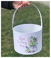 """Корзинка для цветов """"Крокусы"""" 20*15 см"""