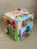 """Развивающий куб для мальчика """"Бизикуб"""" бизи куб бизиборд  25*25*25 см"""