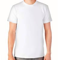 Мужская футболка хлопок EZGI Турция белая размер M-60 (46-48)