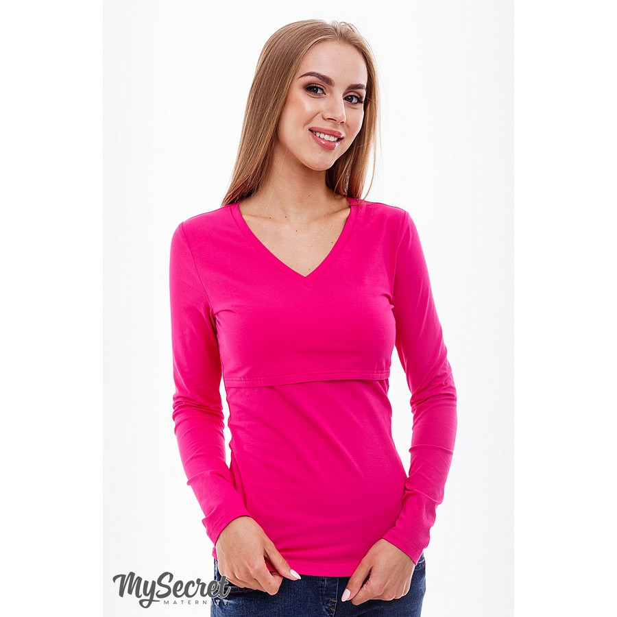 Топ для кормящих Adrianna ЮЛА МАМА (розовый, размер S)