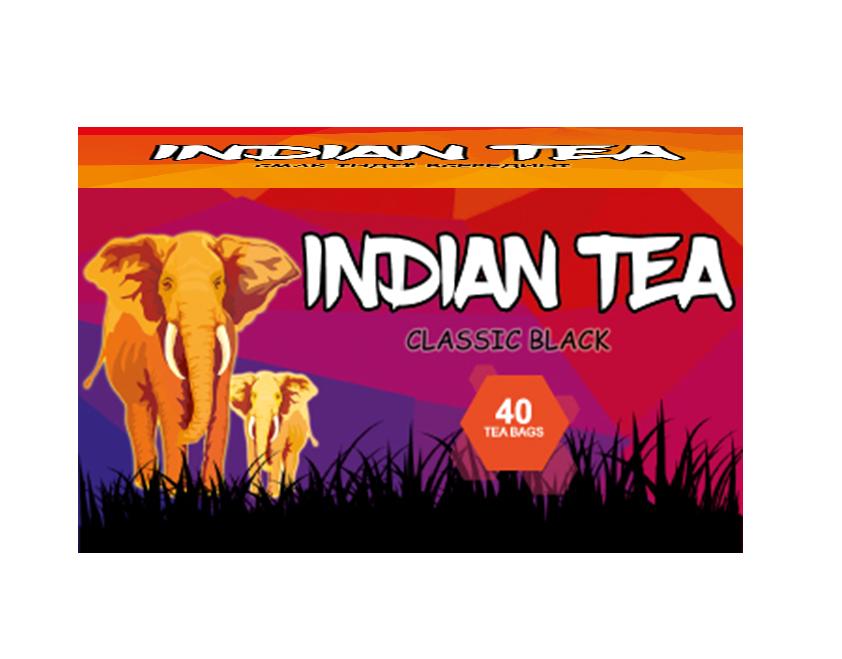 Чай чёрный пакетированный Indian Tea Классический 40 х 1.8 г