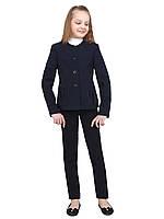 """Пиджак школьный для девочки м-863 рост 128 134 140 146 152 158 164 и 170 синий тм """"Попелюшка"""", фото 1"""