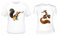 Парные футболки Безумные Белки, фото 1